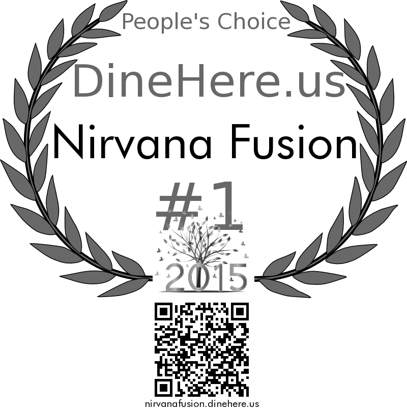 Nirvana Fusion DineHere.us 2015 Award Winner